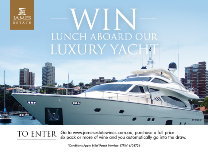 James Estate win yacht lunch