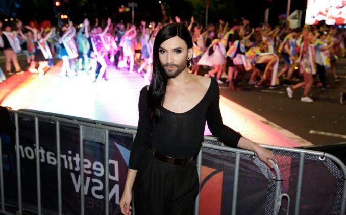 Mardi Gras parade Sydney THE F Conchita Wurst