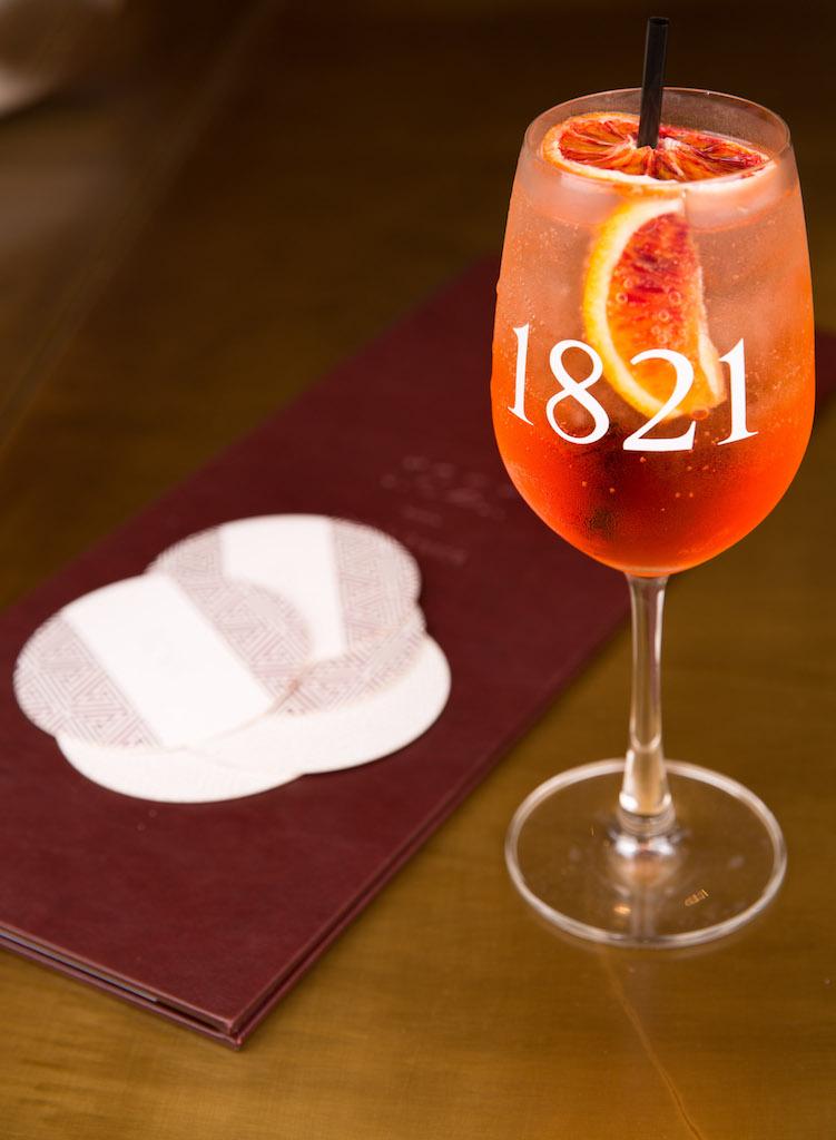 Poseidon cocktail at 1821 Restaurant