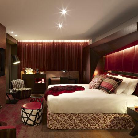 QT Sydney Mardi Gras hotel room THE F