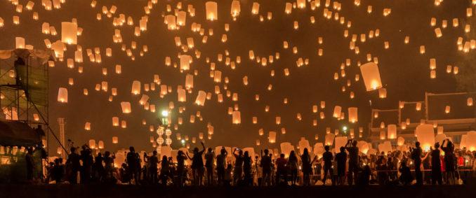 Yi Peng Sky Lantern Festival in Chaing Mai,Thailand.