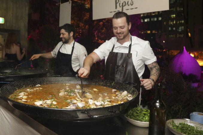 chefs prepare seafood chowder