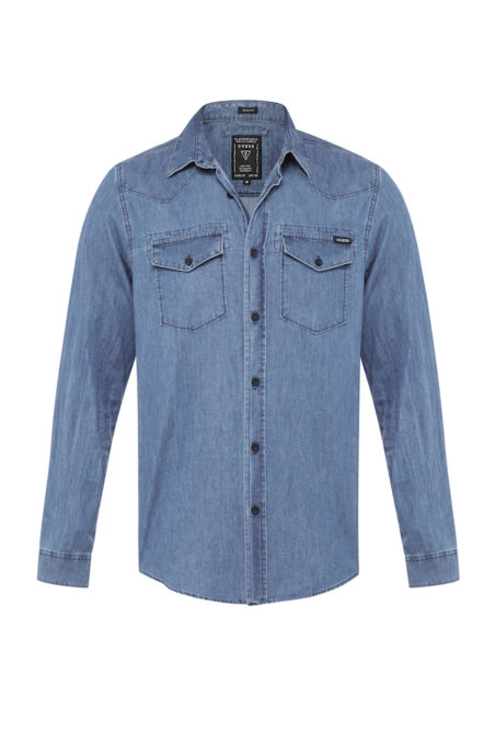 GUESS MENS_DENIM SHIRT_BOULEVARD WASH_$99.95