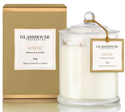 Glasshouse candles Kyoto