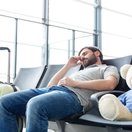 Man waiting at airport