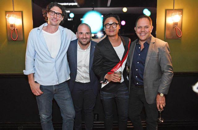 Colin Fassnidge, George Colambaris, Luke Nguyen, Alaistair McLeod Celebrity Chefs Meet Greet at Gilt Bar at QT Hotel Sydney - Thursday 22nd June, 2017 Photographer: Belinda Rolland © 2017