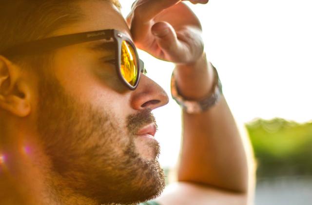 Man face handsome groom sunglasses