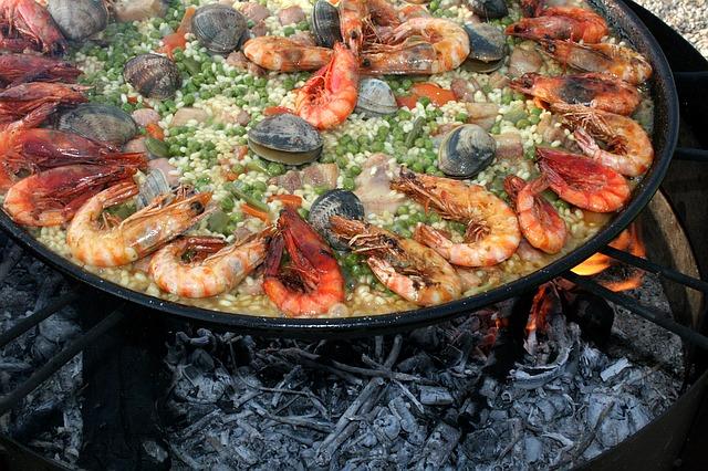 Paella Spain Seville food
