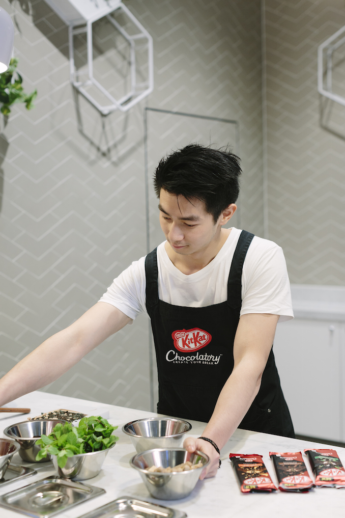 Reynold Poernomo experimenting with flavours KitKat Chocolatory in Melbourne