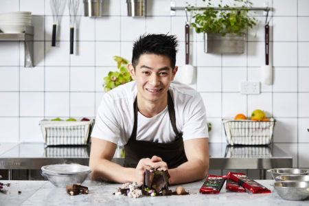 Reynold Poernomo with KitKat Secret Garden Dessert and new Inspired By KitKat Chocolatory range