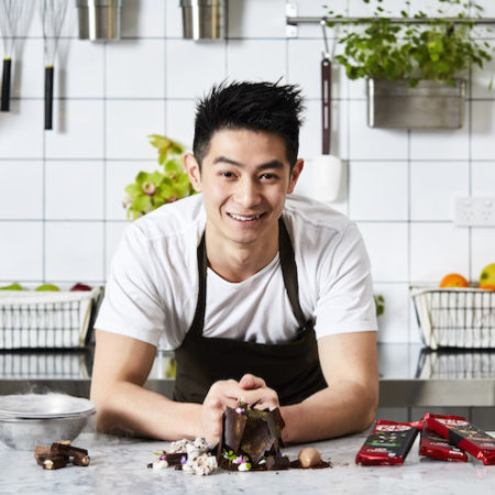 Reynold Poernomo with KitKat Secret Garden Dessert and new Inspired By KitKat Chocolatory range