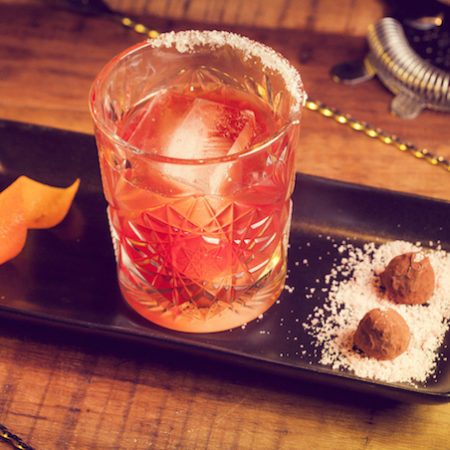 Truffle Negroni cocktail drink