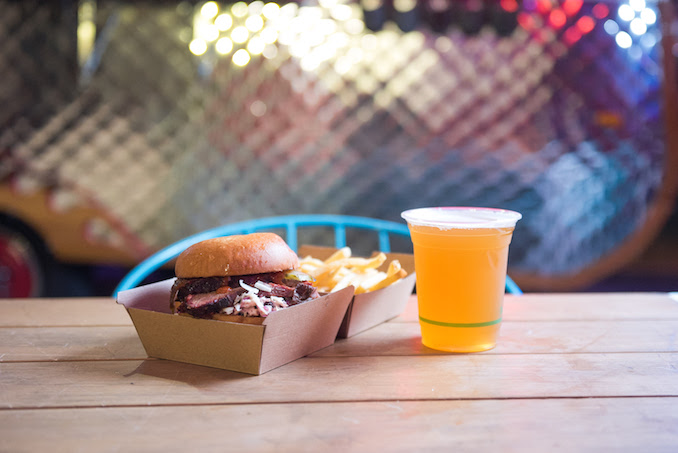 Vivid Sydney Burrows George Twilight Dining food trucks burger plate