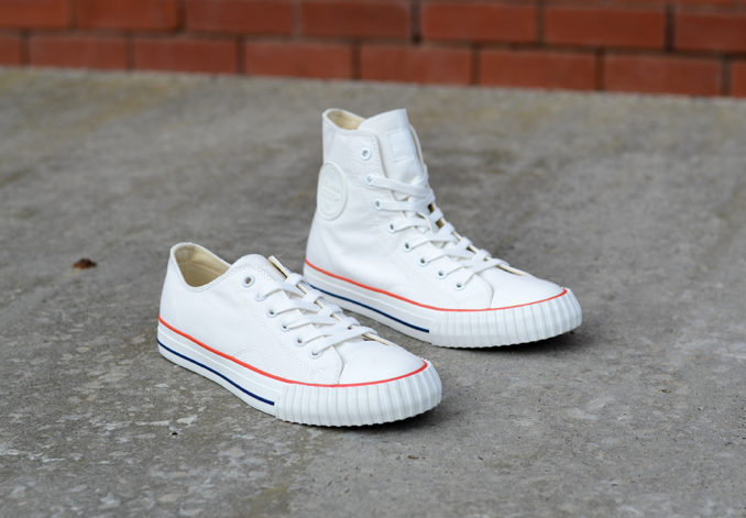 Bata Bullets Heritage high top sneaker white high low top