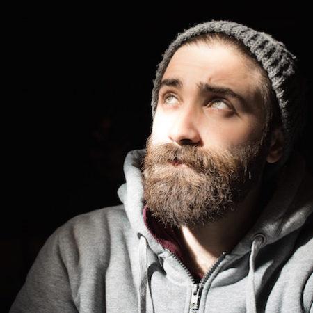 Beard beanie man