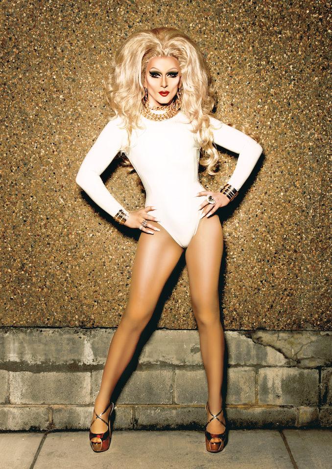 DJ Kitty Glitter drag queen gold