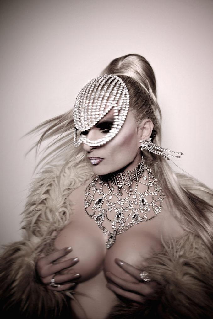 DJ Kitty Glitter drag queen mask