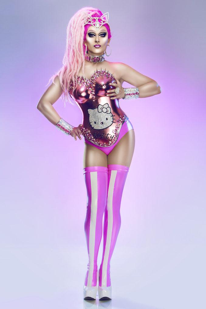DJ Kitty Glitter drag queen pink