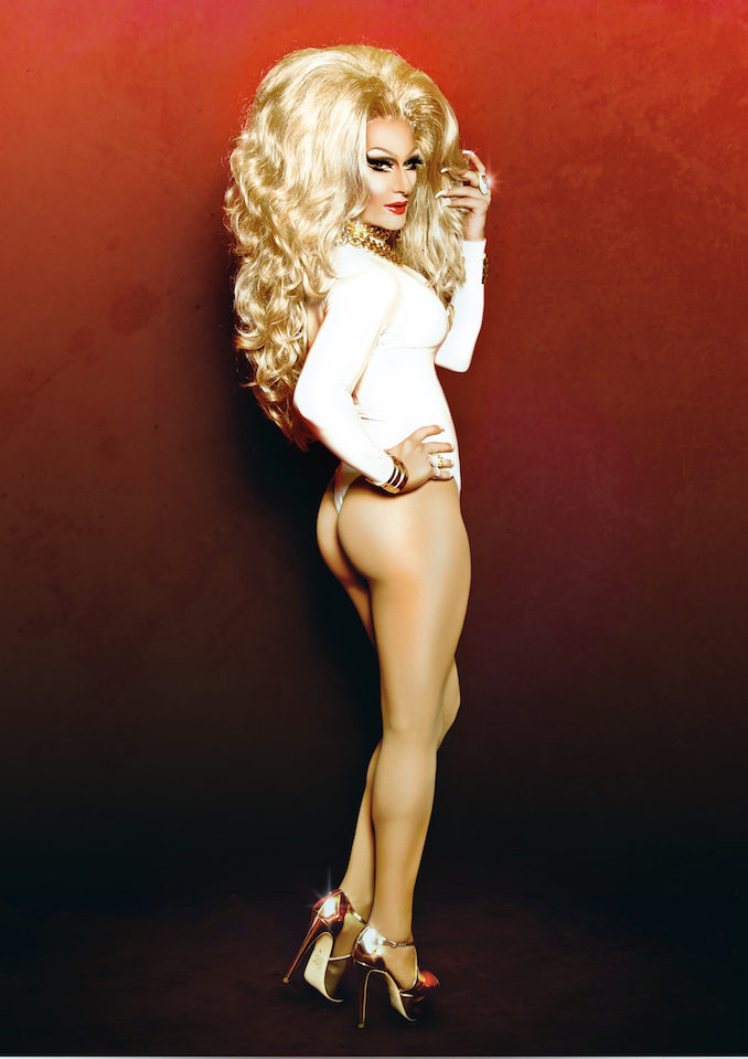 DJ Kitty Glitter drag queen red