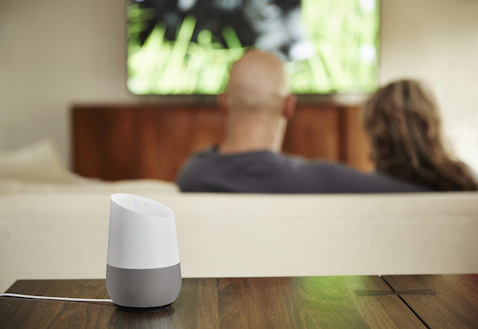 Google Home couple TV