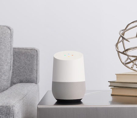 Google Home living room space