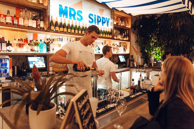 Mrs Sippy Double Bay Veuve Cliquot champagne party winter soiree party 2