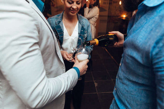 Mrs Sippy Veuve Cliquot champagne party winter soiree party 6