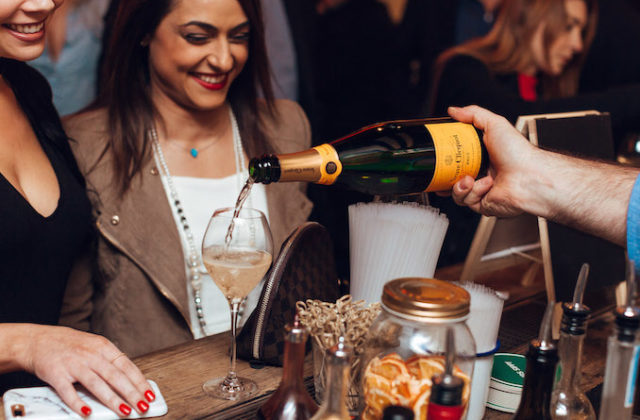 Mrs Sippy Veuve Cliquot champagne party winter soiree party 9