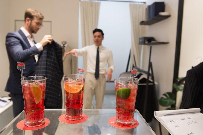 Campari Belance cocktail mens tailoring 4