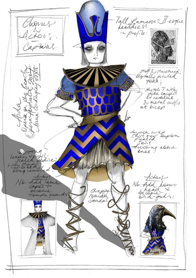 Captains Aida Opera Australia costume sketch