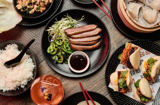 China Diner Bondi flat lay food table