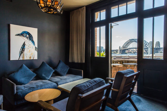 Henry Deane Hotel Palisade hotel room view sydney harbour bridge