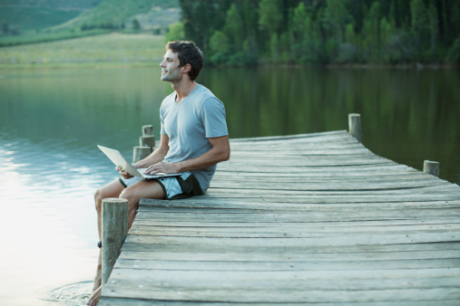 How to start lifestyle blog man sitting pier