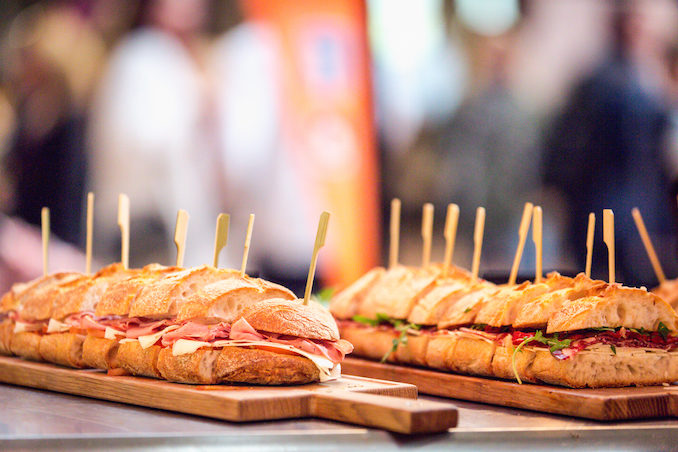 Italian food wine festival Sydney sandwiches