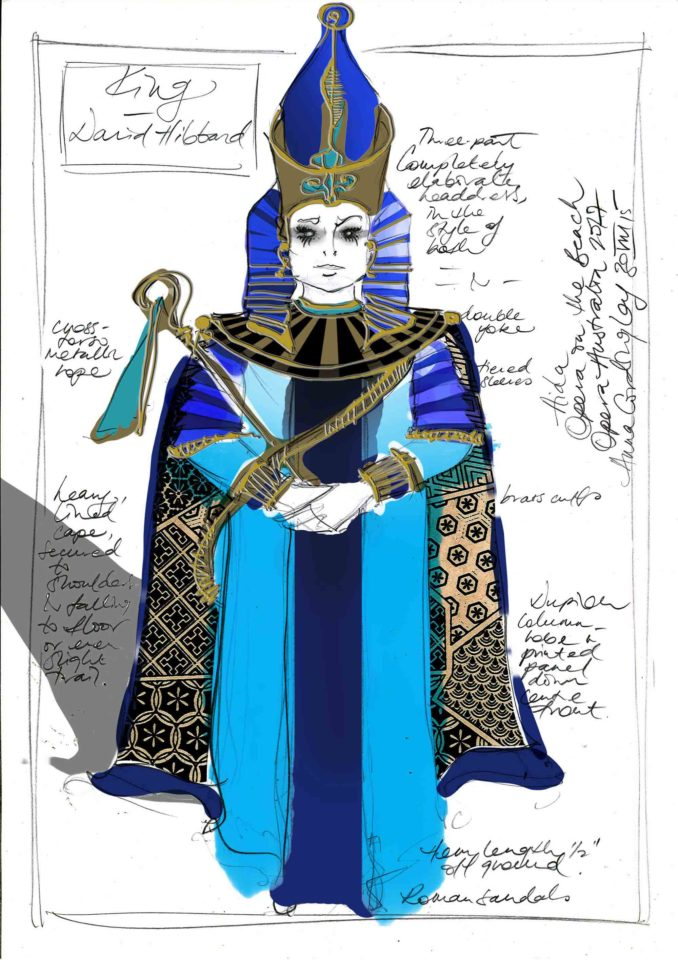 King Aida Opera Australia costume sketch