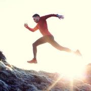 Man running exercise gear