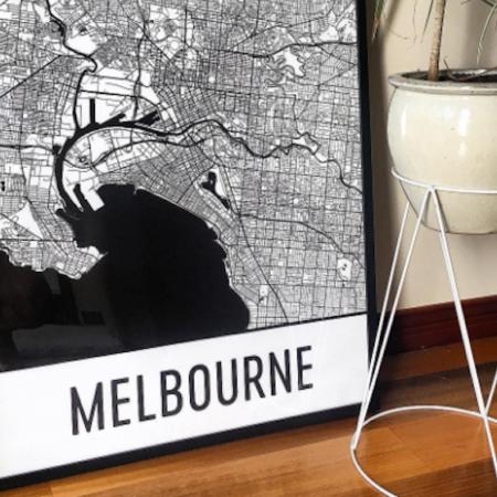 Modern Map Art Melbourne