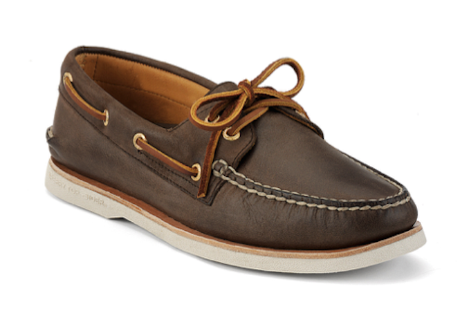 Sperry boat shoes gold eyelets