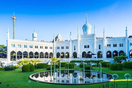 Copenhagen's famous Tivoli Gardens and Pavilion