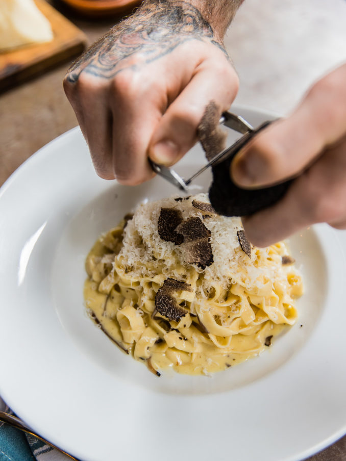 Jamie Italian restaurant Sydney truffles pasta