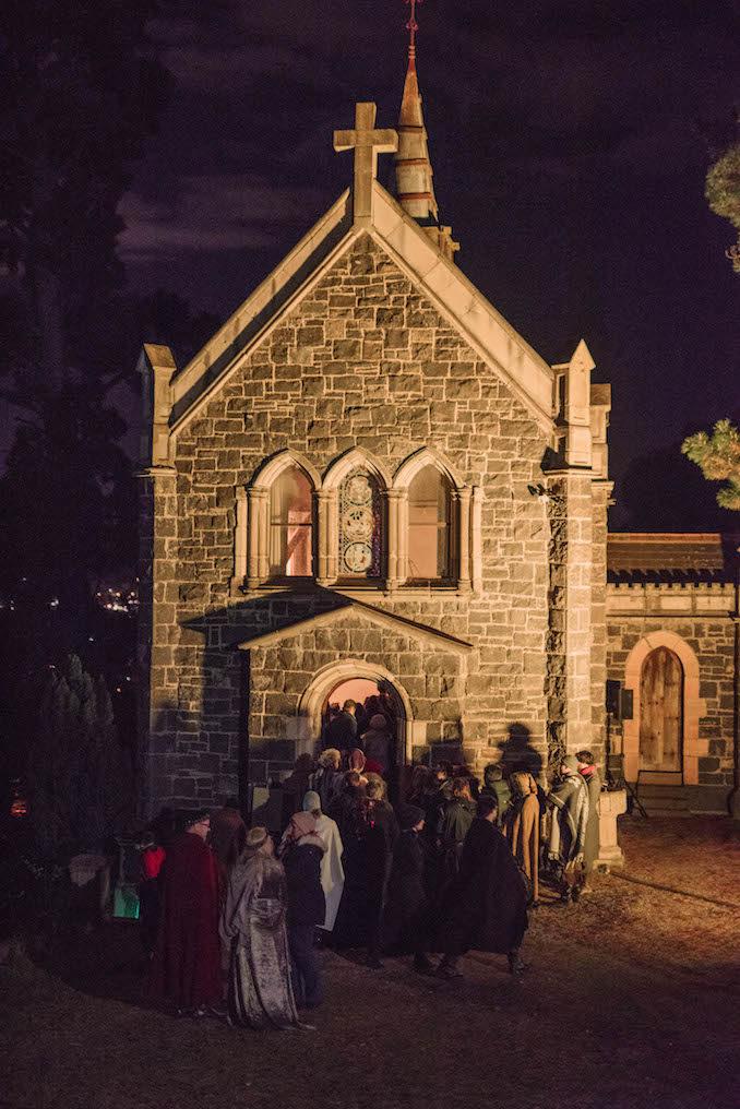 Underground Cinema Royal Court Kingdom Montsalvat church