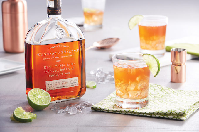 Woodford Reserve bourbon Fathers Day engraving