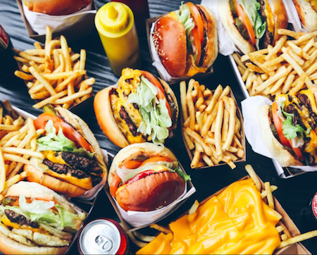 California Burgers LA Chapel Street Melbourne flat lay