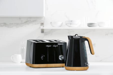 Morphy Richards aspect kettle toaster Scandi black