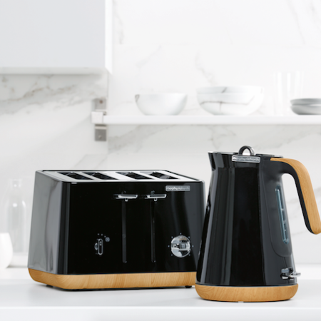 Morphy Richards aspect kettle toaster Scandi black
