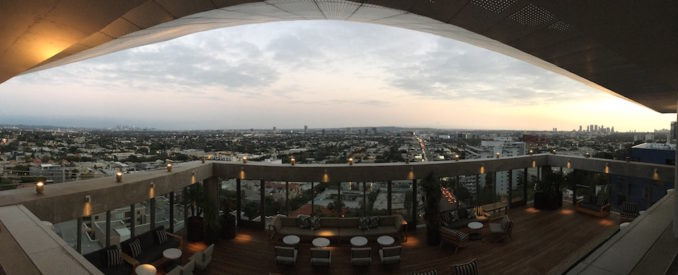 The Jeremy rooftop bar Penthouse view West Hollywood