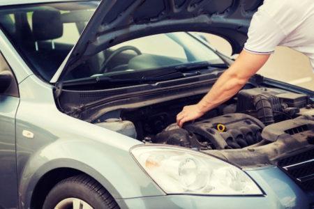 Car problem under bonnet hood