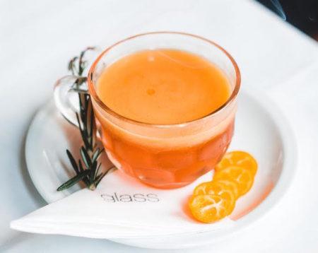 Glass Brasserie Hilton Hotel cumquats spring table