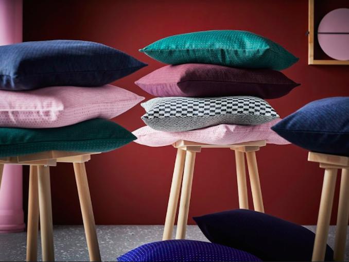 IKEA Hay Mette Rolf Danish Swedish design Scandi cushions