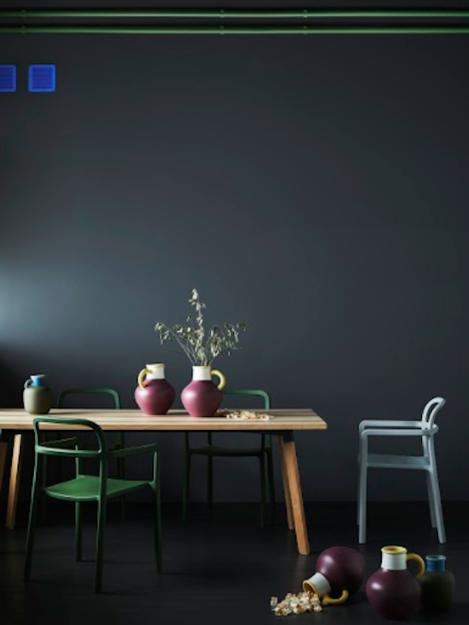 IKEA Hay Mette Rolf Danish Swedish design Scandi dark room